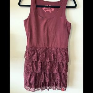 Dresses & Skirts - Esprit tank dress with tiered lace bottom